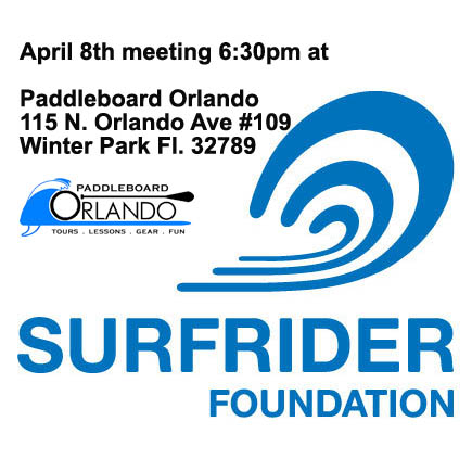 April Monthly Meeting (Wednesday 04/08/15 at 6:30pm) @ Paddleboard Orlando